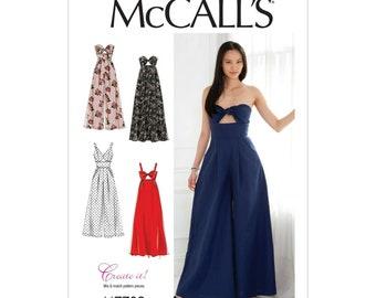 McCalls Sewing Pattern M7789 - Long Evening Dress - Pants - Pants Skirt