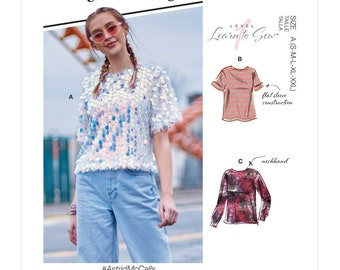 McCall's sewing pattern M8112 - T-shirt - top - 3 sleeve variations