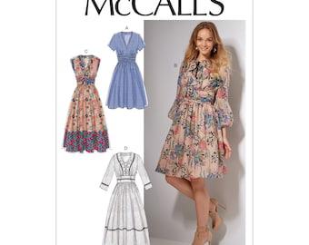 McCalls sewing pattern M7537 - dress - wide waistband - skirt part grated