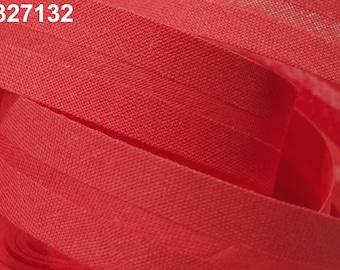 1.00EUR/meter , 3 m slanted ribbon, cotton, 30 mm, red, 132