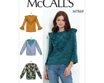 McCalls Sewing Pattern M7869 - Shirt - Sweater - Sweatshirt