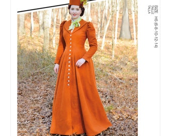 McCall's sewing pattern M8123 - Victorian coat - Historical around 1880