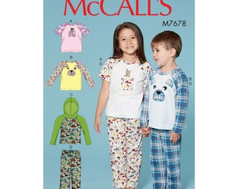 McCalls Sewing Pattern M7678 - Children's SleepSuit - Short and Long Sleeved