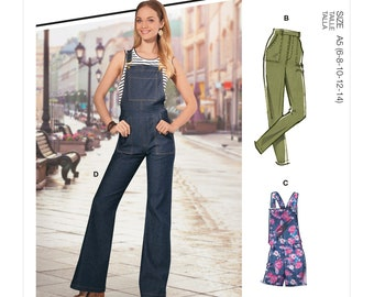 McCalls Sewing Pattern M8162 - Jeans - Pants - Pants - Overall - Variants