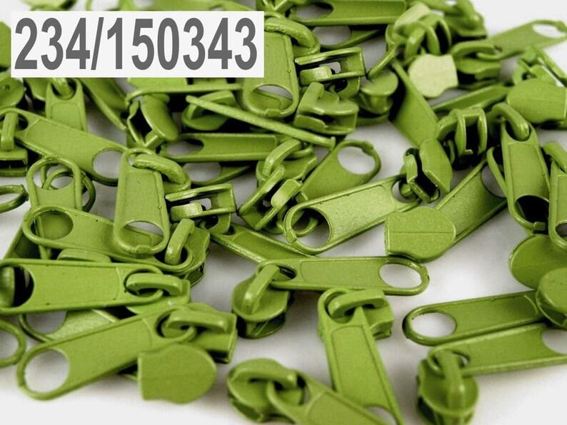 10 x Zipper for continuous zipper 3 mm limett image 0