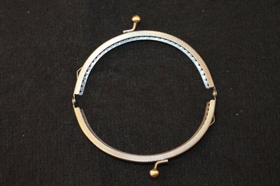 12,5 x 7,5 cm halbrund bronzefarben Taschenbügel Taschenverschluss