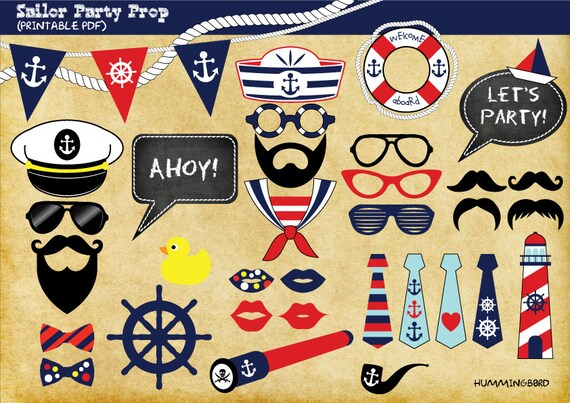 Nautical Themed Party Photo Booth Prop Sailor Themed Party Etsy