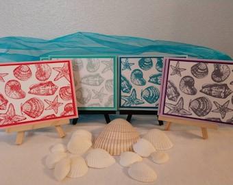 I love sea shells card set