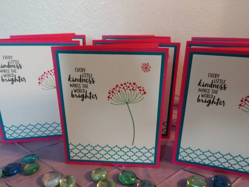 Every little kindness makes the world brighter card set