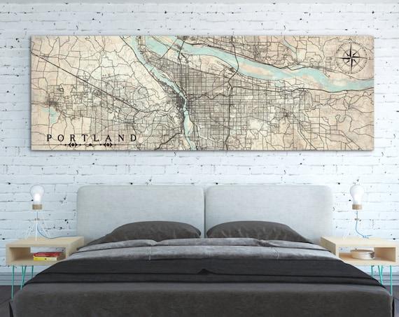 VINTAGE MAPS: panoramic - Nataly Borich Art