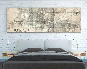 Phoenix antique map | Etsy