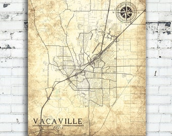 Map Of California Vacaville.Vacaville Map Etsy