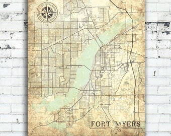 Map Of Fort Myers Florida.Fort Myers Florida Etsy