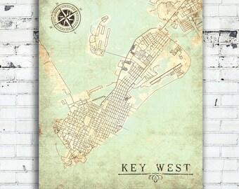Key West Florida Map.Key West Map Etsy