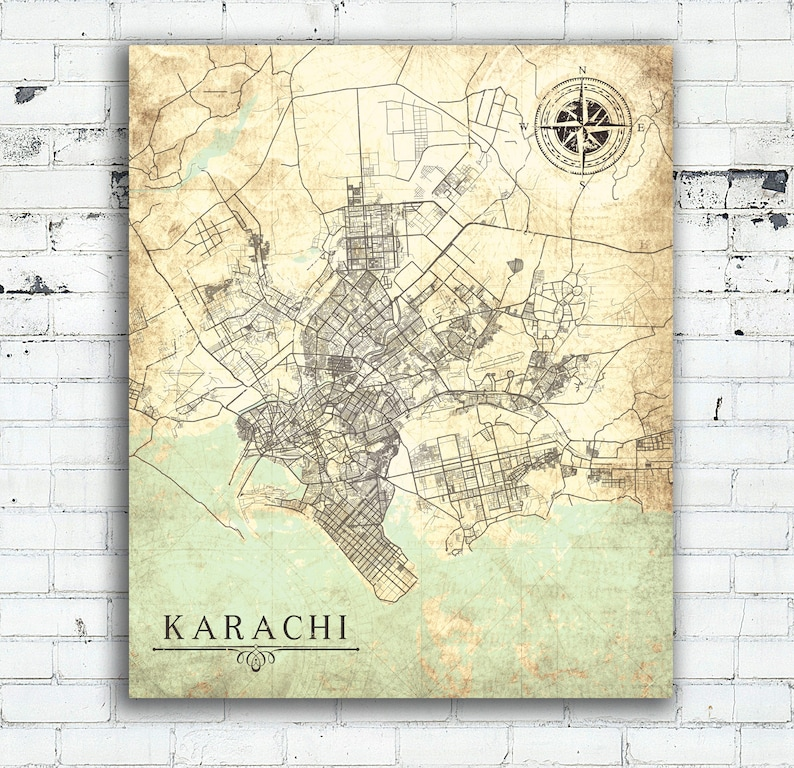 KARACHI Canvas Print stan Vintage map Karachi Sindh wall art poster on lahore world map, moscow on world map, paris world map, shanghai on world map, mecca world map, istanbul world map, jerusalem world map, kolkata world map, jakarta world map, cairo world map, pyongyang world map, seoul world map, thar desert world map, buenos aires world map, ulaanbaatar world map, hyderabad world map, taipei world map, colombo world map, damascus on world map, kathmandu world map,