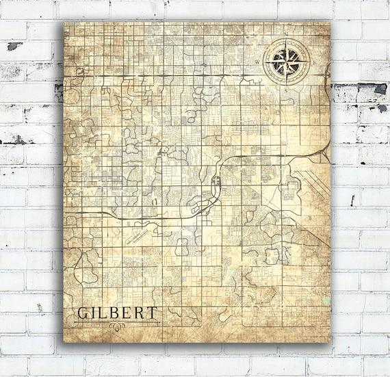 GILBERT AZ Canvas Print Arizona AZ Vintage map Gilbert az City Town on gilbert street map, gilbert and baseline map, gilbert il map, casa grande, gilbert arizona on map, gilbert ar, queen creek, gilbert tx map, gilbert pa map, sun city, phoenix metropolitan area, gilbert high school map, gilbert nc map, gilbert mn map, heber overgaard map, chandler gilbert map, gilbert city map, el mirage, gilbert ia map, maricopa county, bridges at gilbert subdivision map, paradise valley, gilbert california map, gilbert sc map, gilbert school district, apache junction, cave creek, arizona state map, fountain hills,