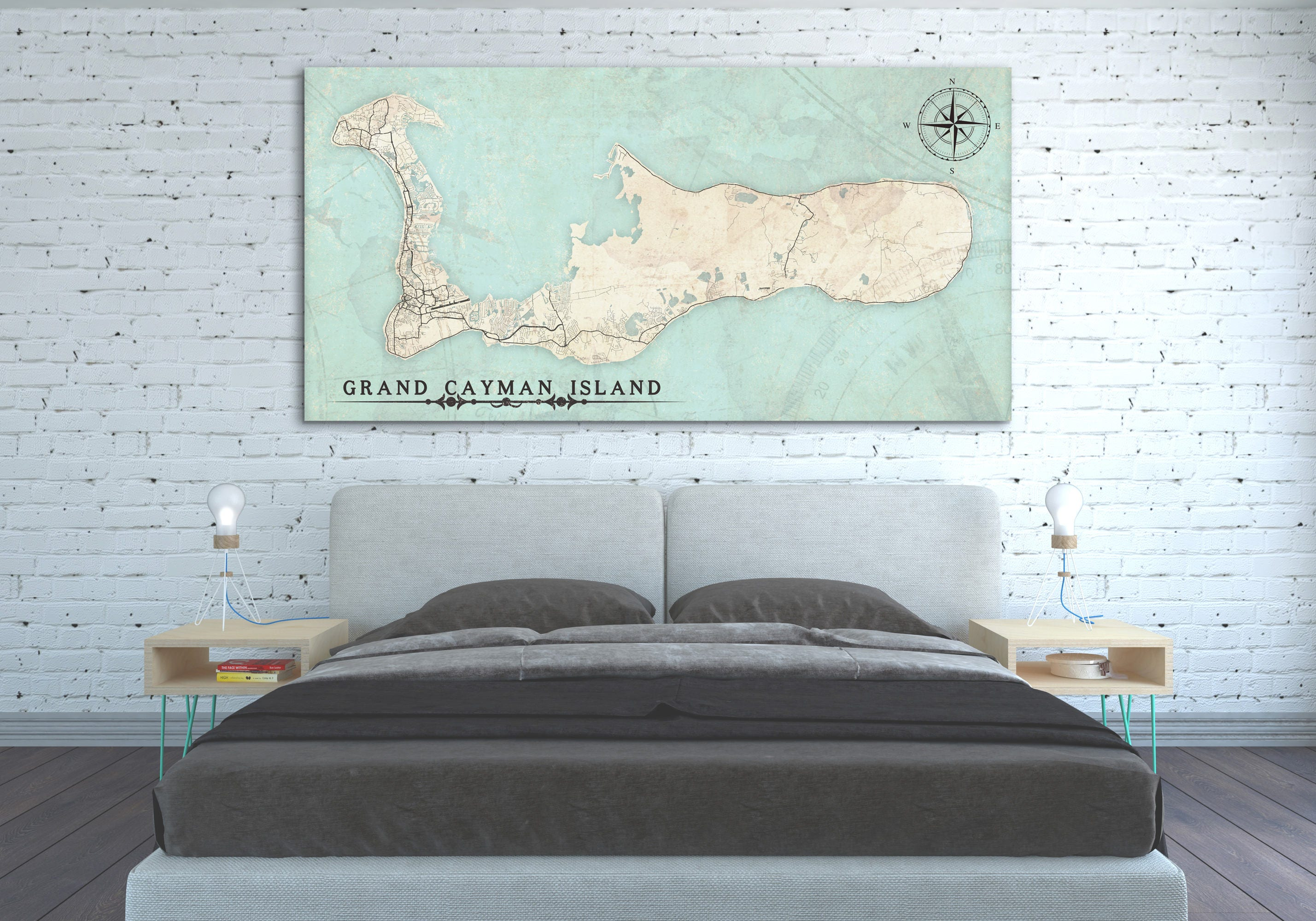 It is an image of Magic Printable Map of Grand Cayman