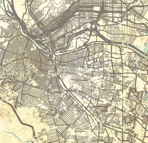 EL PASO TX Canvas Print Texas tx Vintage map El Paso City | Etsy