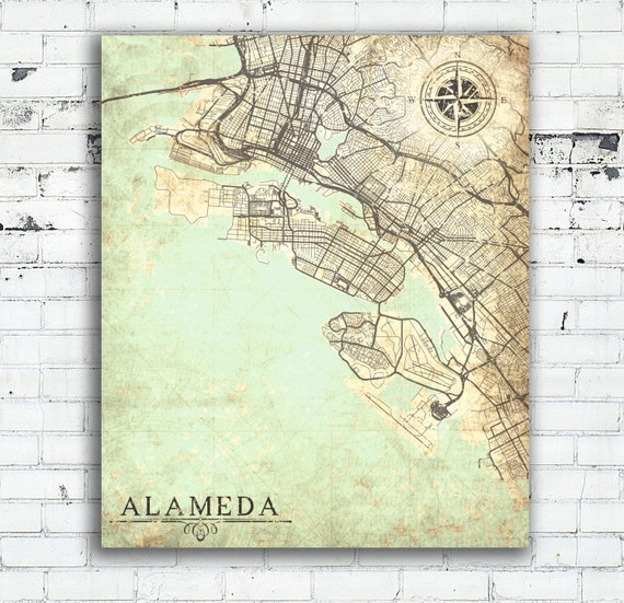 ALAMEDA CA Canvas Print California CA Vintage map Alameda City California on cities in alameda county california, map of alameda island ca, map of unincorporated alameda county, map of phoenix arizona, map of port orchard washington, map of mcminnville oregon, bad neighborhoods in oakland california, map of sheffield uk, map of auburn washington, map of ormond beach florida, map of venice florida, map of westerville ohio, alameda island california, map of beaverton oregon, map of gresham oregon, map of orlando florida, map of bend oregon, map of king of prussia pennsylvania, map of moab utah, map of tucson arizona,