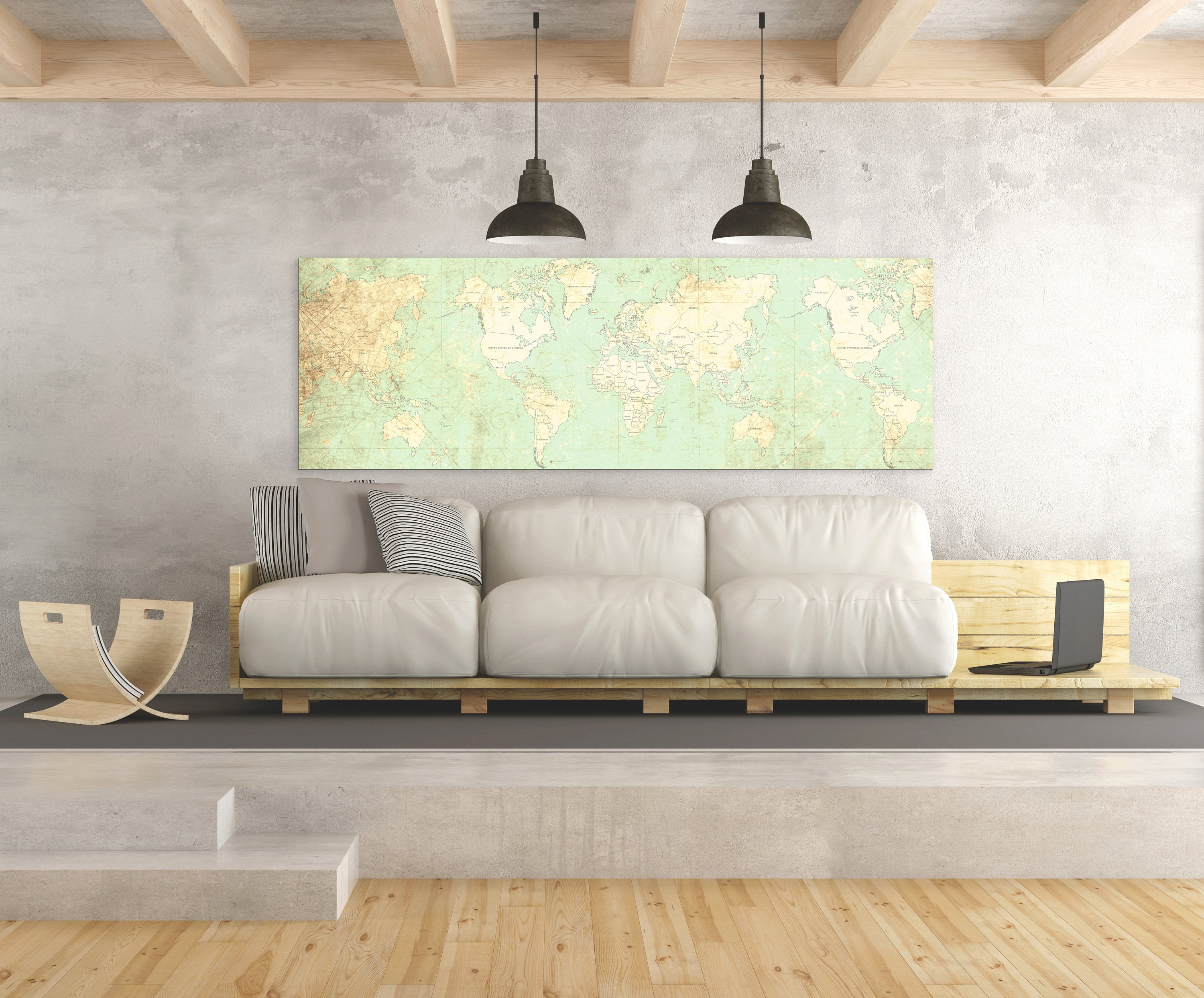 World map canvas print vintage light neutral pastel map world map world map canvas print vintage light neutral pastel map world map panoramic large wall art vintage antique mint oversized wall art poster gumiabroncs Image collections