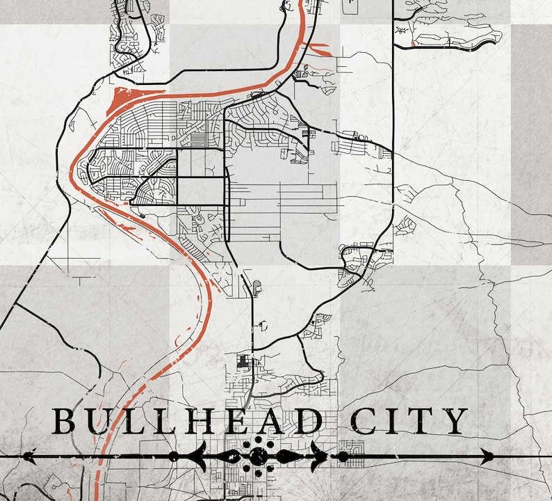 Map Of Arizona Bullhead City.Bullhead City Az Canvas Print Arizona Bullhead City Vintage Map Wall Art Poster Retro Old Black White Gray Neutral Vertical Antique Old Map