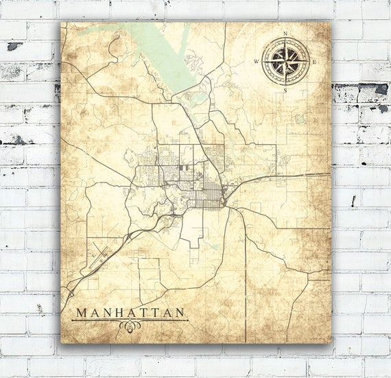 MANHATTAN KS Canvas Print Kansas Manhattan Ks City Vintage map Ton on manhattan county map, manhattan nebraska map, manhattan united states map, manhattan nd map, manhattan parks map, north manhattan map, manhattan tourist map, kansas county map, kansas current weather map, manhattan road map, manhattan points of interest map, manhattan kansas, manhattan satellite view, manhattan colorado map, manhattan il map, manhattan mt map, manhattan tx map, manhattan area map, kansas city kansas map, manhattan ny map,