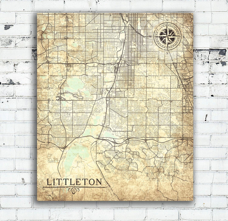 Littleton Colorado: LITTLETON CO Canvas Print CO Colorado Littleton City