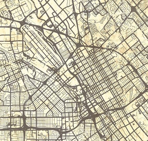 SAN JOSE CA Canvas Print Ca California Vintage map San Jose Ca | Etsy