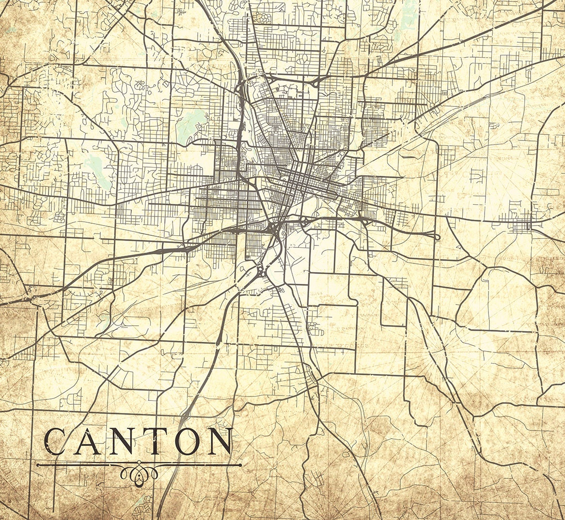 CANTON OH Canvas print Ohio OH Canton Vintage map City Map ... on map of edgerton ohio, map of dublin ohio, map of wells township ohio, map of alger ohio, map of northeast ohio, map of akron ohio, map of larue ohio, detailed map of ohio, map of toledo ohio, map of parkman ohio, map of newbury ohio, map of berlin heights ohio, map of new york, map of nashville ohio, map of black river ohio, map of bowersville ohio, map of williamsfield ohio, map of new holland ohio, map of findlay ohio, map of rittman ohio,