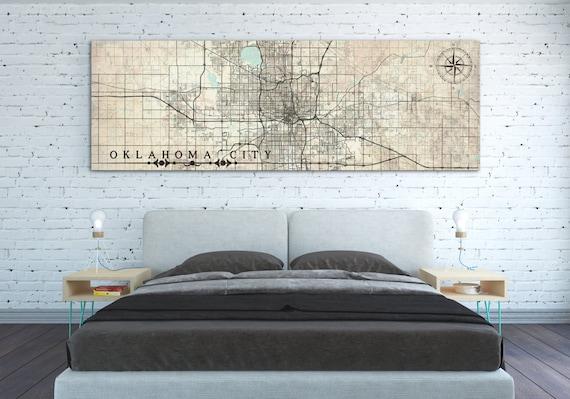 image 0 - OKLAHOMA City OK Canvas Print Vintage Map OKC Oklahoma Ok Etsy