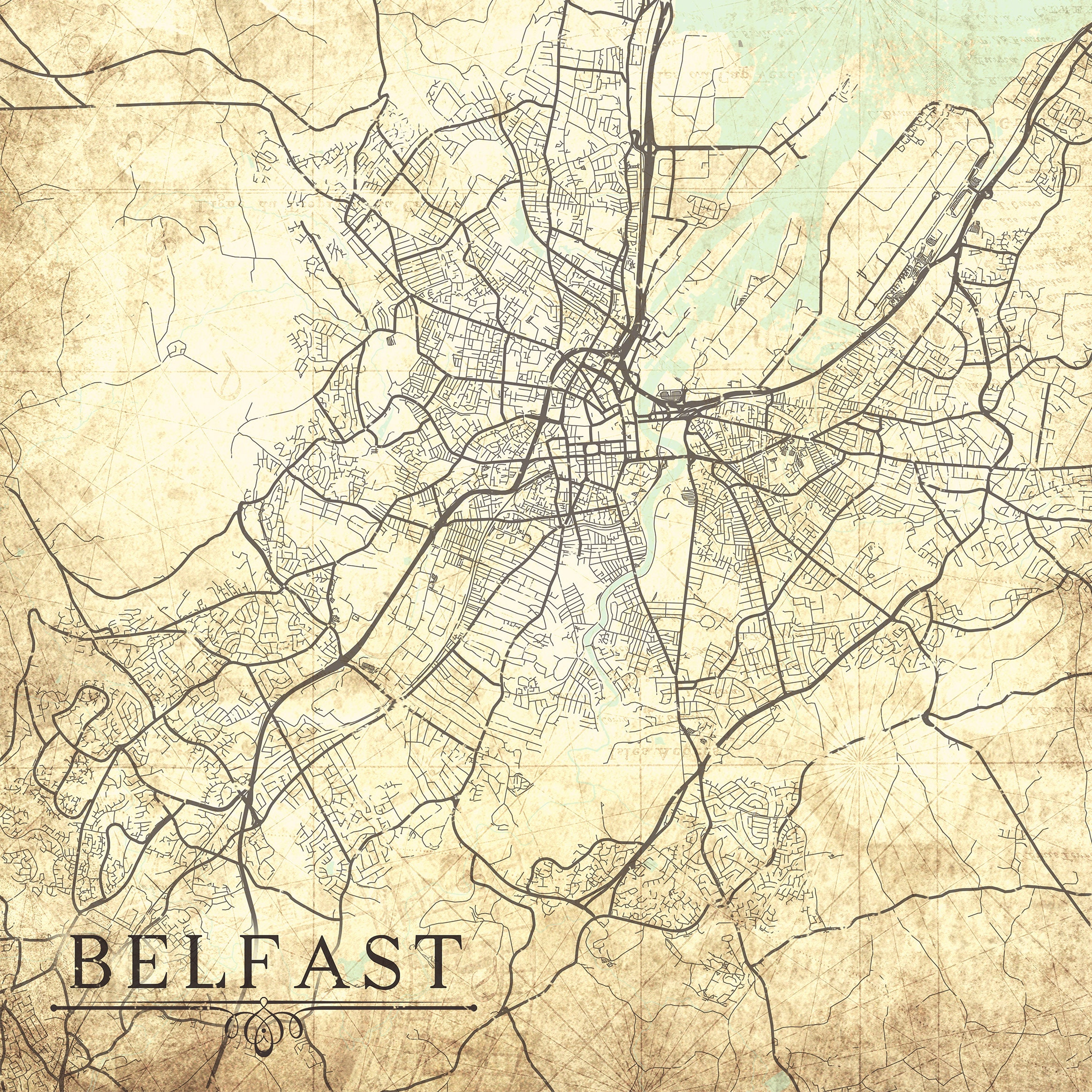 BELFAST Canvas Print UK Ireland Vintage map Belfast City ... on goteborg city map, erfurt city map, ellsworth city map, cuenca city map, limassol city map, solitude city map, rijeka city map, a coruna city map, bolivar city map, waterville city map, delray beach city map, bulawayo city map, fortaleza city map, alma city map, santos city map, ennis city map, dingle city map, fife city map, pomeroy city map, yantai city map,