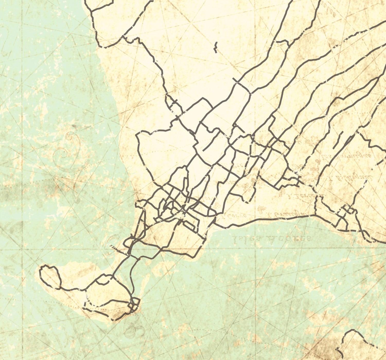 BALI Canvas Print Indonesia Vintage map Bali Island Indonesia ...