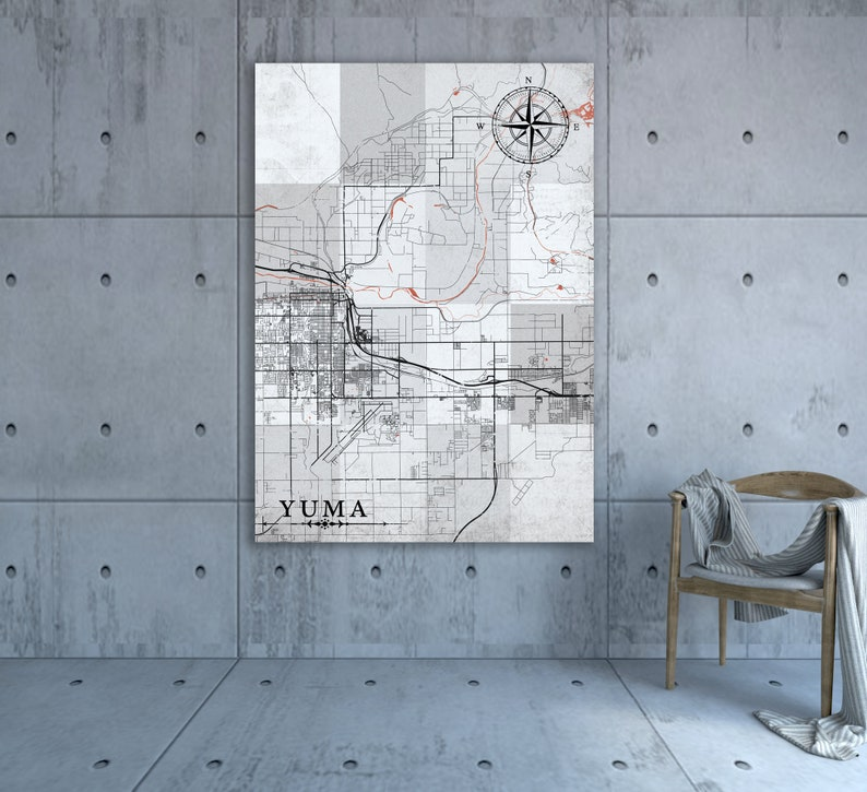 YUMA AZ Canvas Print AZ Arizona Vintage map Yuma Town City Vintage Yuma Az Map Of Towns on map of arizona, map of naco az, map of christopher creek az, map of colorado river az, map of prescott az, map of gila river az, map of petrified forest az, map of nutrioso az, map of black canyon city az, map of portal az, map of valle az, map of tacna az, map of pinedale az, map of waianae hi, map of fort mcdowell az, map of sun city grand az, map of cochise az, map of phoenix az, map of santa cruz county az, map of stanfield az,