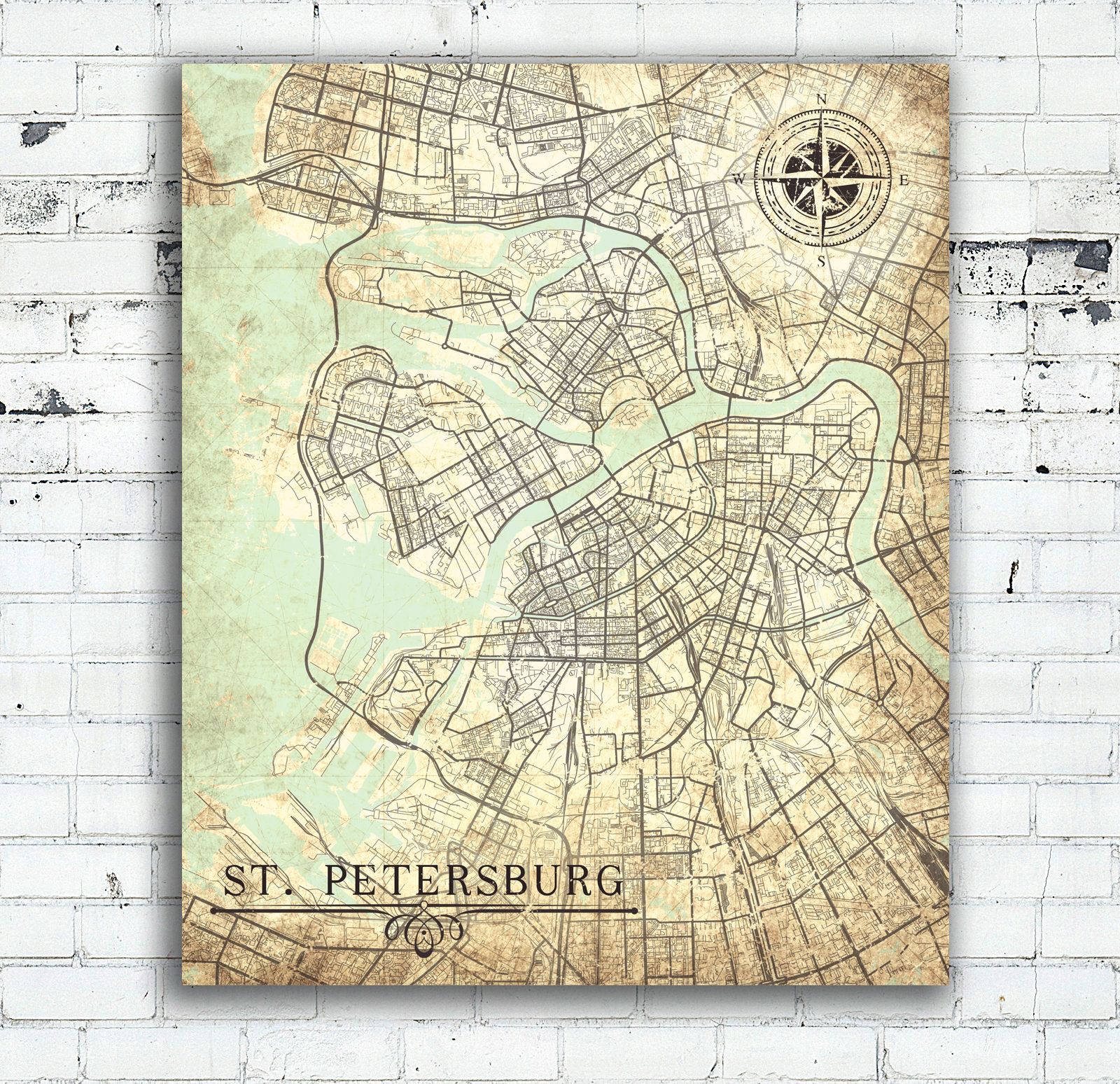 Saint Petersburg Russia Canvas Print St Petersburg Russia Vintage