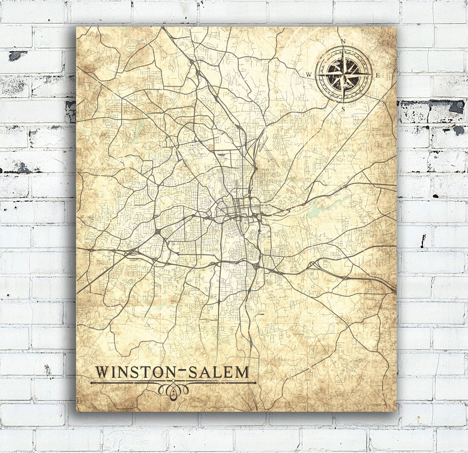 WINSTON-SALEM NC Canvas Print Winston Salem Nc North Carolina ...