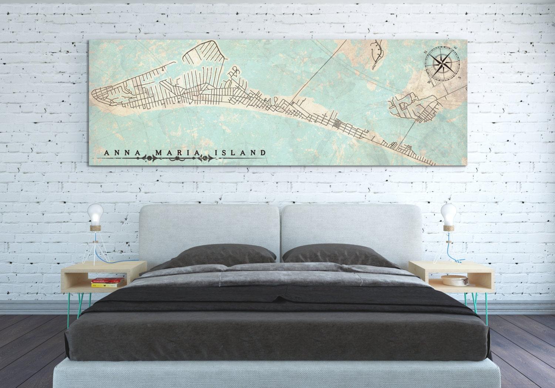 Map Of Anna Maria Island Florida.Anna Maria Island Fl Canvas Print Florida Vintage City Map With