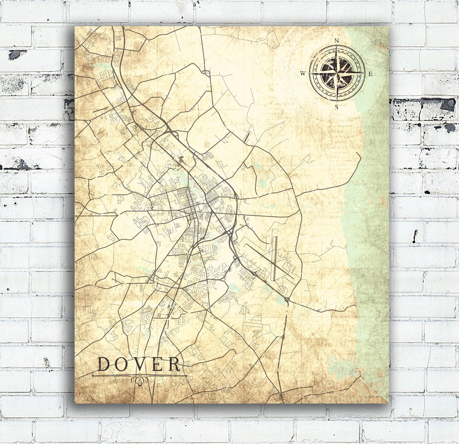 DOVER DE Canvas Print Delaware Vintage map Dover De Vintage ... on dover street map, dover nc map, i-95 delaware map, dover uk map, dover beach map, dover road map, dover vt map, dover ny map, dover fl map, dover delaware, delaware bay map, city of dover map, dover cruise terminal map, dover tn map, dover nh map, dover race track map, smyrna delaware street map, dover ohio map, dover nj map, dover mn map,