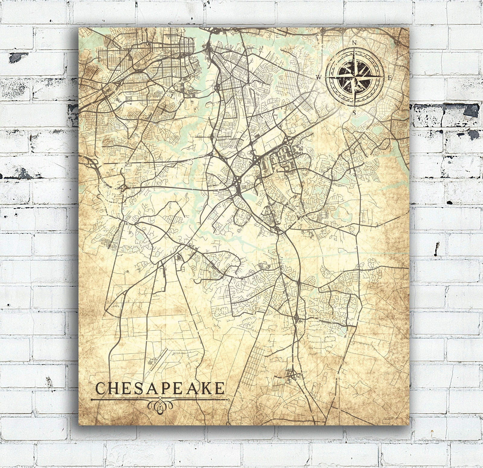 CHESAPEAKE VA Canvas Print VA Chesapeake Virginia Va Vintage ... on map williamsburg va, map windsor va, map tampa va, map montgomery county va, map houston va, map sandbridge beach va, map las vegas va, map fredericksburg va, map glen allen va, map milwaukee va, map manchester va, map galax va, map lebanon va, map front royal va, map hanover va, map tysons corner va, map hampton va, map huntington va, map gloucester county va, map dallas va,