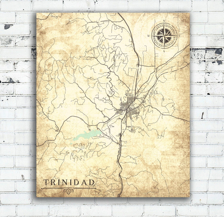 TRINIDAD CO Canvas Print Colorado Vintage map Vintage Town ... on map of tincup colorado, map of lake granby colorado, map of clear creek county colorado, map of san isabel colorado, map of wetmore colorado, map of aguilar colorado, map of keenesburg colorado, map of gunbarrel colorado, map of silver plume colorado, map of green mountain falls colorado, map of battlement mesa colorado, map of stratton colorado, map of severance colorado, map of cherry hills village colorado, map of cheyenne colorado, map of las animas county colorado, map of arapahoe basin colorado, map of monarch pass colorado, map of flagler colorado, map of arriba colorado,
