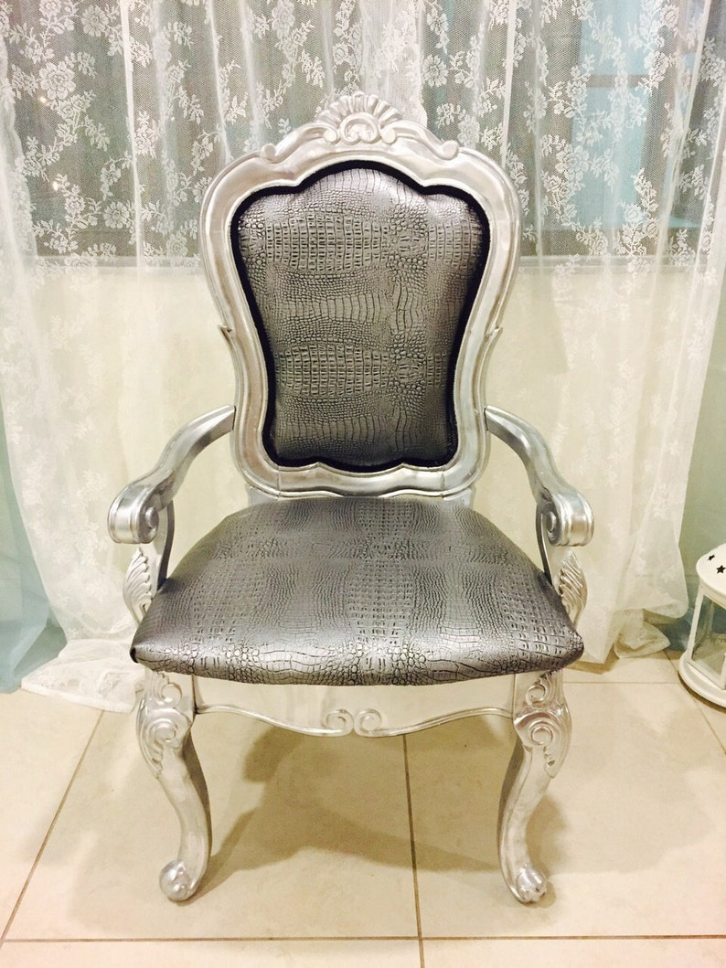 Astounding Amazing Silver Accent Chair French Style Black And White Stripes Back Andrewgaddart Wooden Chair Designs For Living Room Andrewgaddartcom