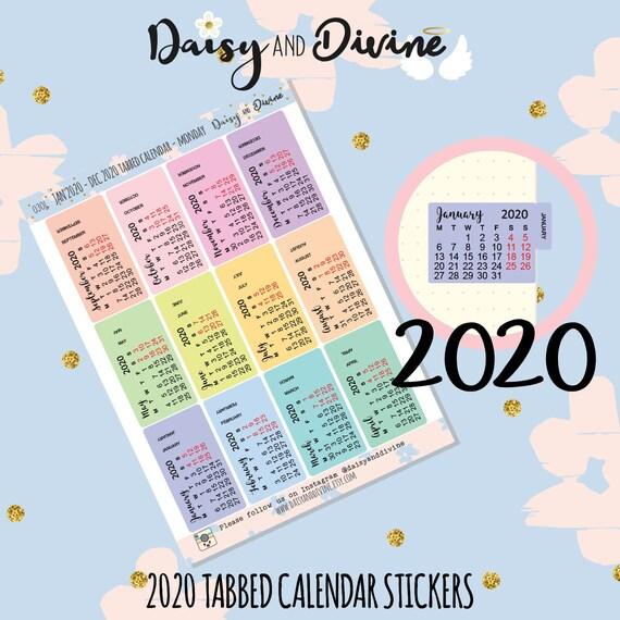 2019 2020 Academic School Calendar Diary Planner Stickers for Bujo Agenda UK
