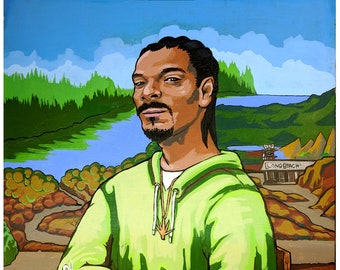 fa38bda8 Snoop Dog and Mona Lisa art print