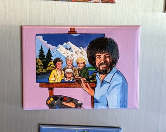 the Golden Girls get their portrait painted Magnet