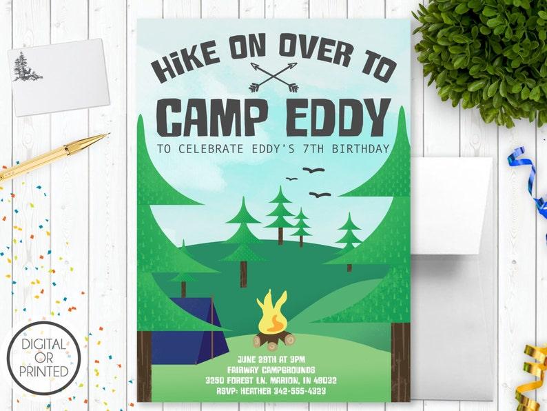 Camping Birthday Invitations Printable