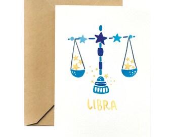 Birthday Greeting Card | Libra Horoscope