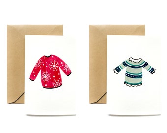 Holiday Greeting Card | Holiday Sweaters (Set of 2)