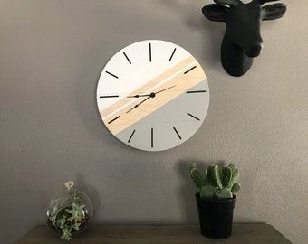 Modern Reclaimed Wood Clock - 16""