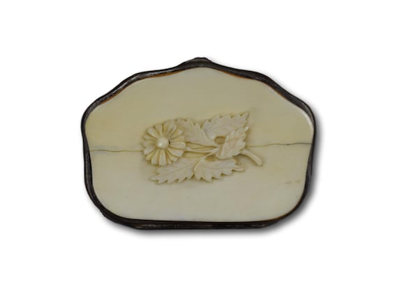 French Victorian Coin Purse Antique Carved Bone Change Pouch Etsy