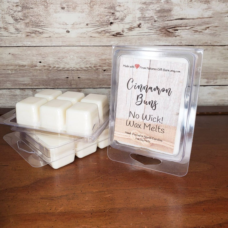 Cinnamon Buns Scented Soy Wax Tarts Melts in Clamshell Wax image 0