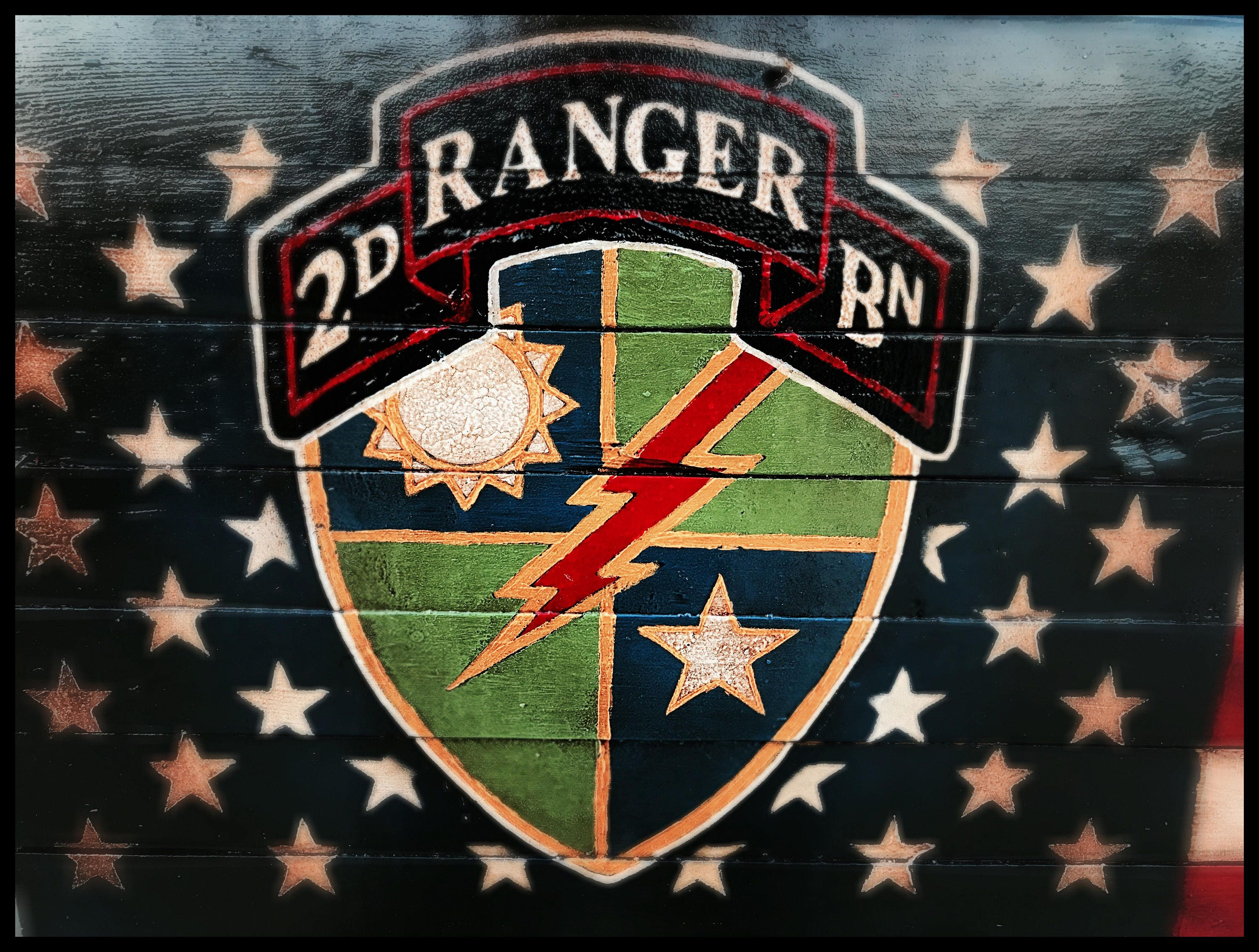 Army Ranger American Flag Us Army Ranger Flag 2nd Ranger Battalion